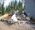 Coeur D Alene resident (installed rock stairs-lighting and small retaining wall.